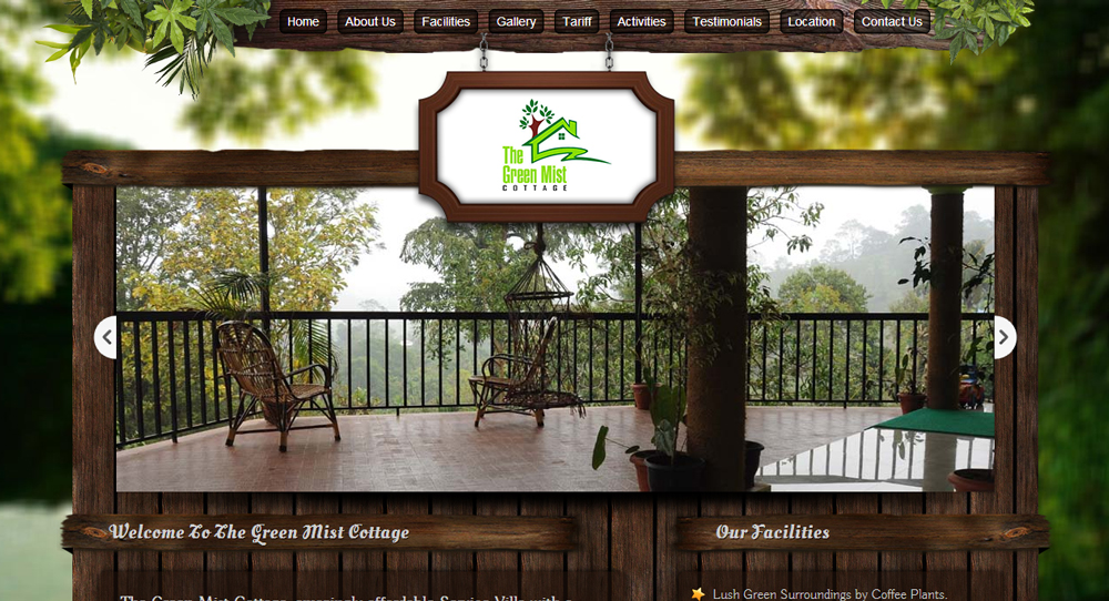 Green Mist Cottages  - SRV InfoTech Project