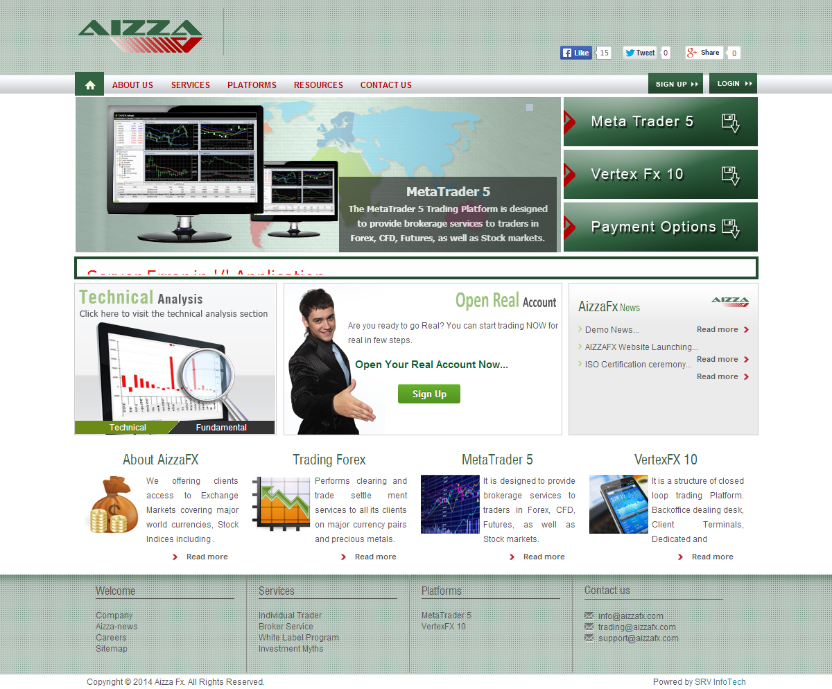 Aizza Fx - SRV InfoTech Project