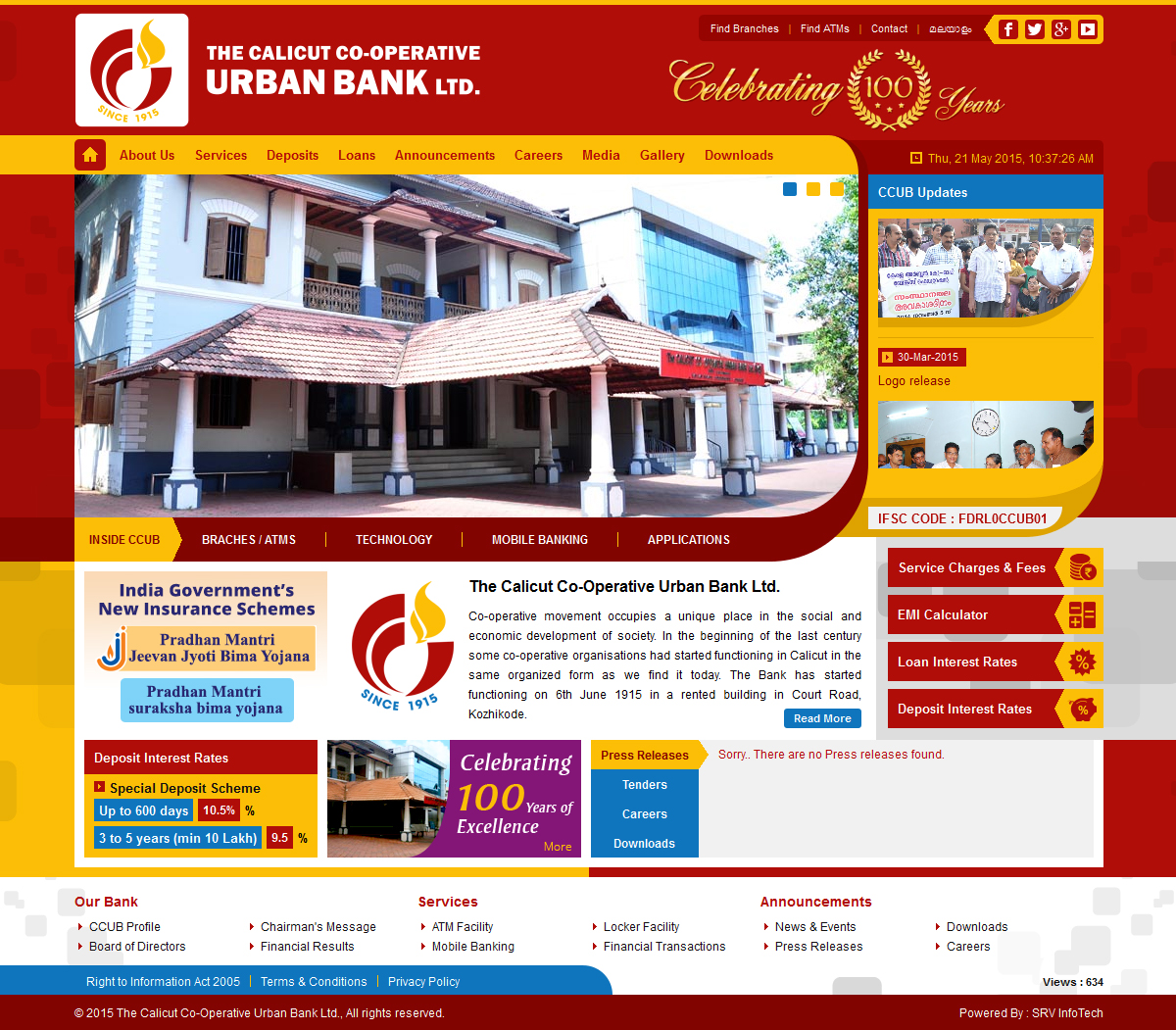 Calicut Urban Bank - SRV InfoTech Project