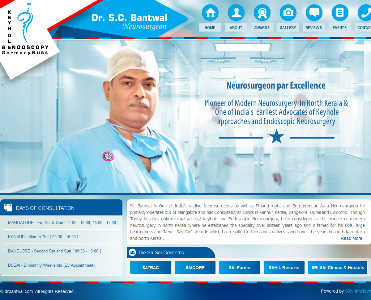 Dr. Bantwal - SRV InfoTech Project