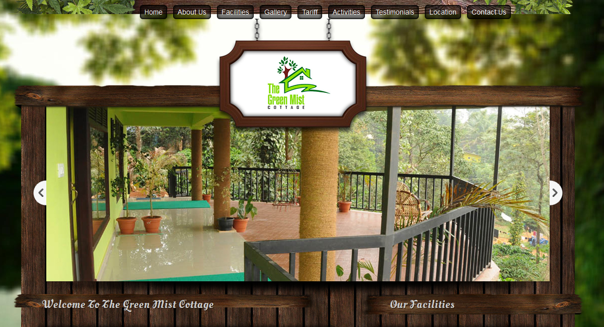 Green Mist Cottage - SRV InfoTech Project