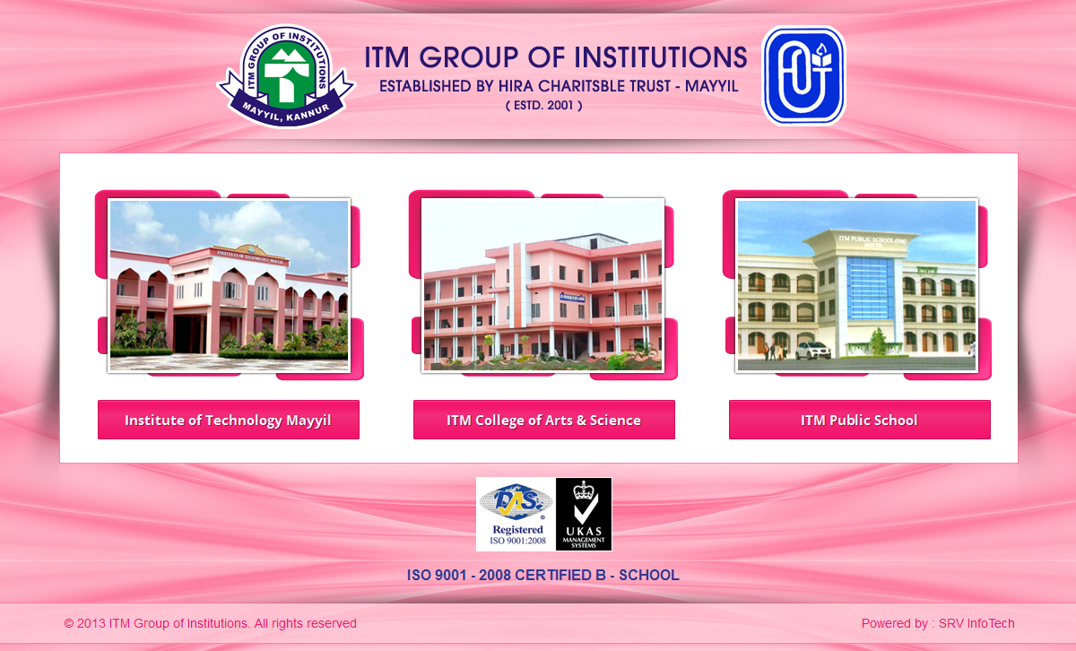 ITM Group Of Institutions - SRV InfoTech Project