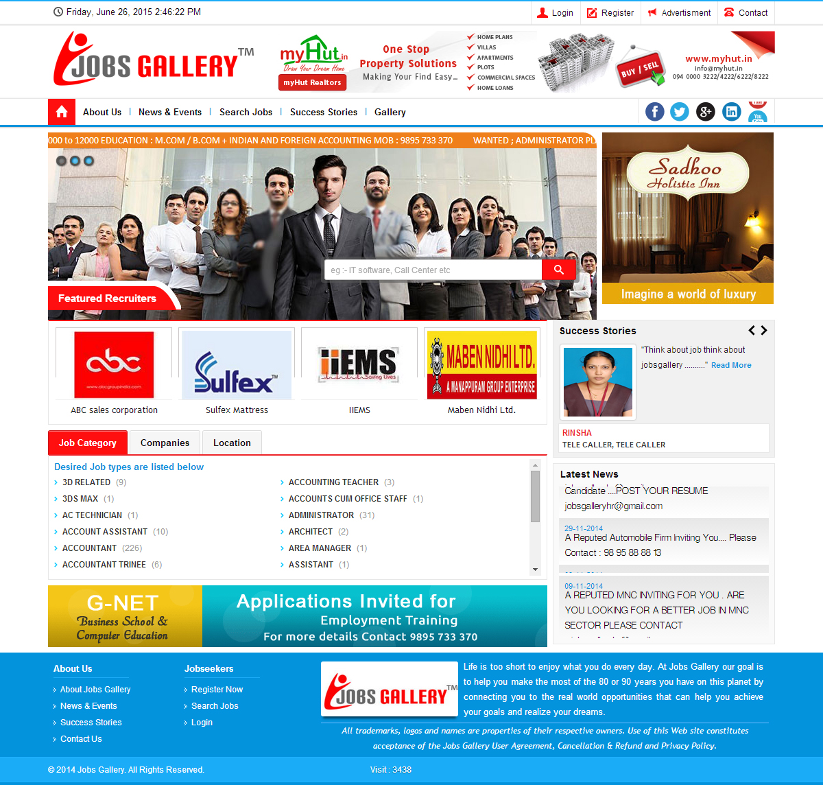 Jobs Gallery - SRV InfoTech Project