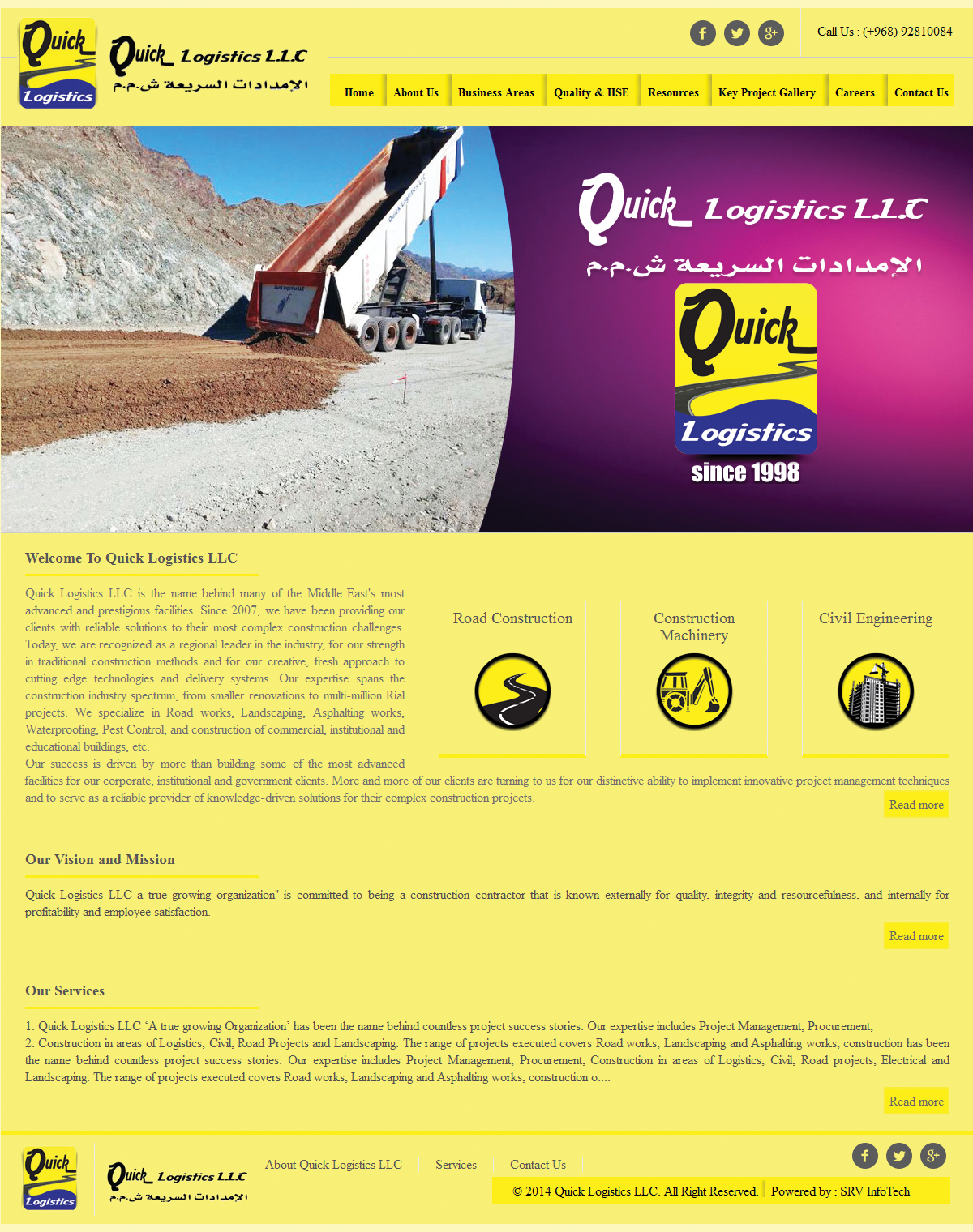 Quicklogisticsllc - SRV InfoTech Project
